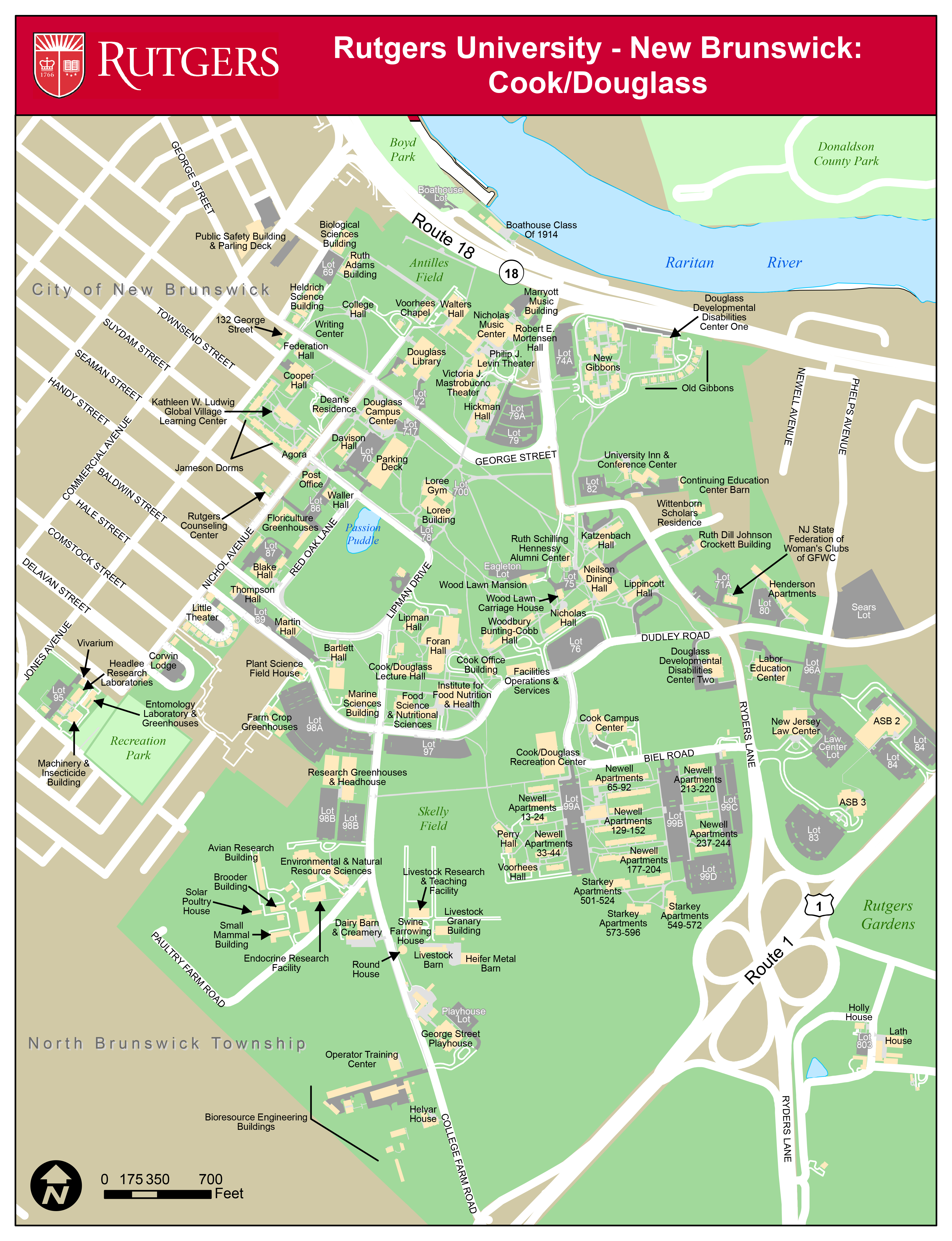 Douglass And George H Cook Campus Map Rutgers Visitor Guide