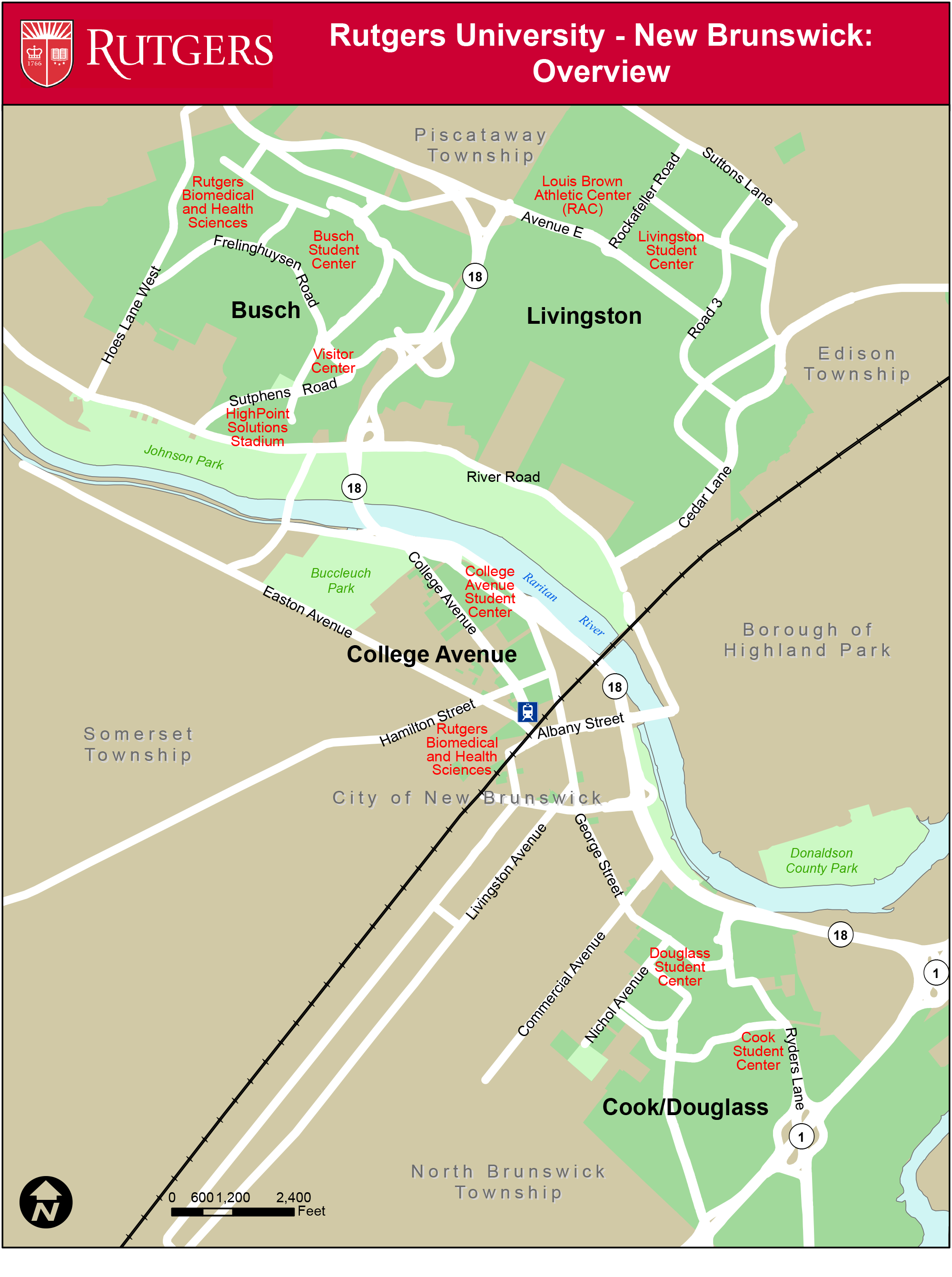 Campus Map Rutgers Visitor Guide