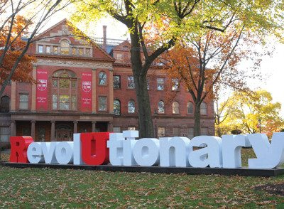 Rutgers Revolutionary statue