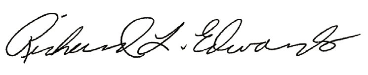Richard L. Edwards signature
