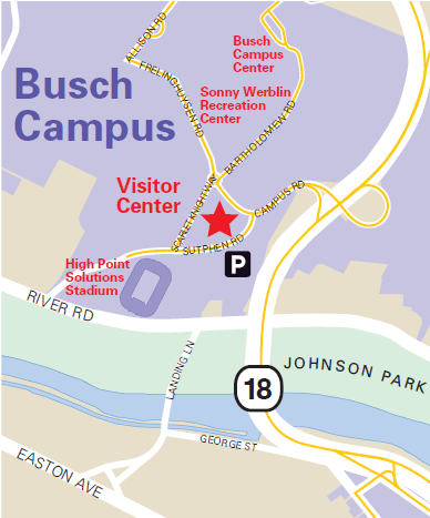 Map with Visitor Center location