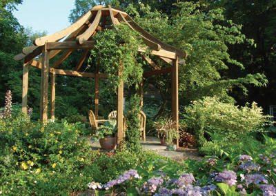 Gazebo at Rutgers Gardens